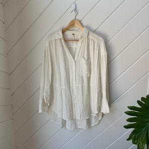 Free People Tops - FREE PEOPLE button down cream blouse size: XS